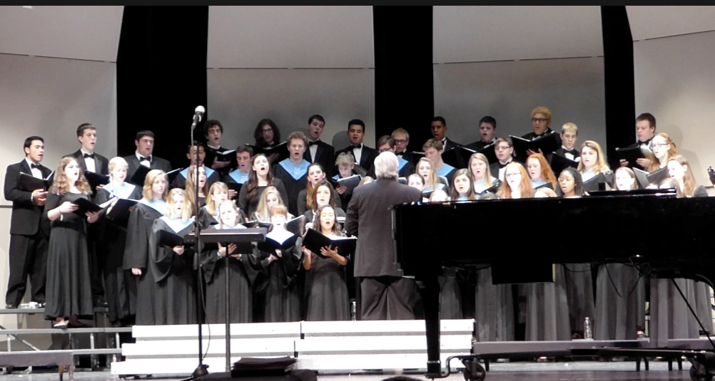 "Combined FFHS Advanced Choir and Naugatuck High School Chorale performing ""Prayer."""