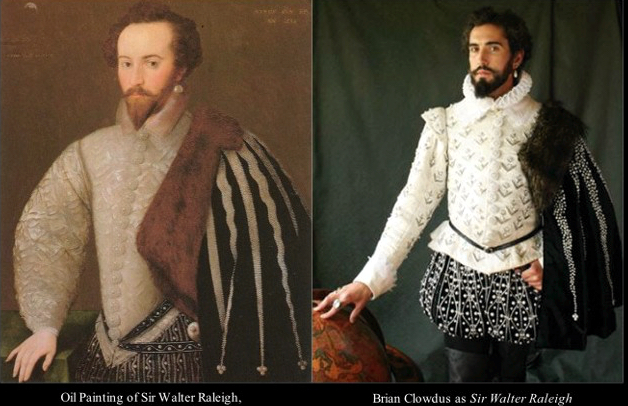 Noted for his attention to historic detail, this image from William Ivey Long Studios, shows how Long created a modern costume from a 16th century portrait.