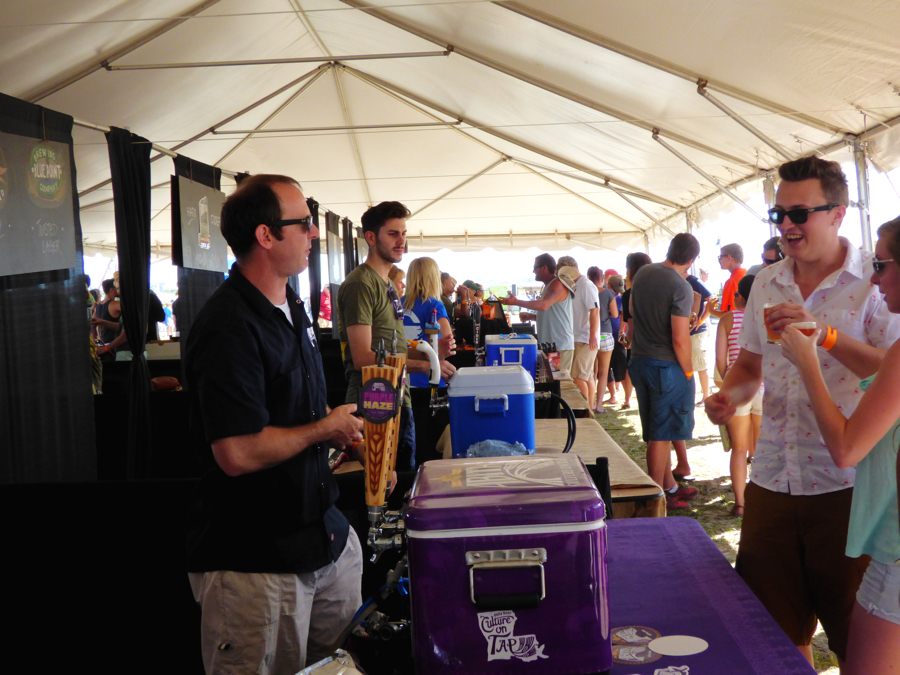 Scene from last year's BrewFest.