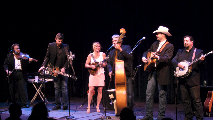 Rhonda Vincent and the Rage in performance at Roanoke Island Festival Park Indoor Theatre.