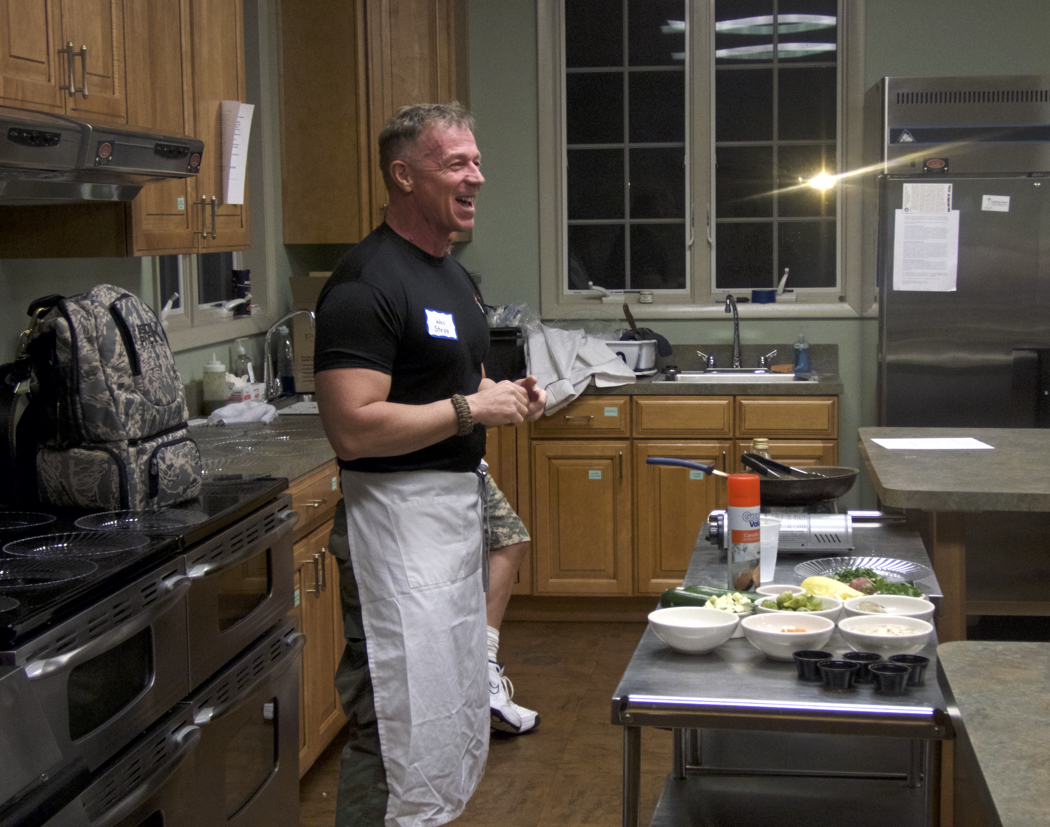 Wes Stepp, executive chef at Red Sky in Duck and creator of Tastefully Fit at an After Dark class in 2016.