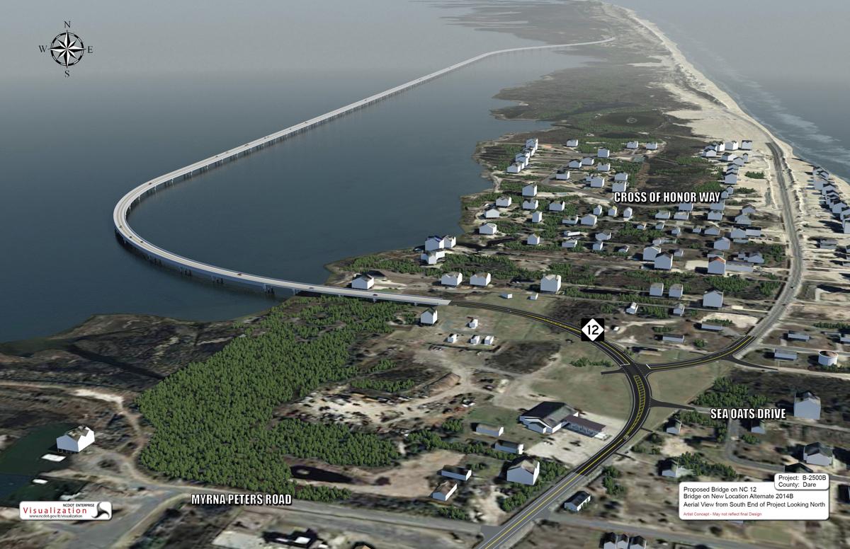 Artist's rendering of the Jug Handle, Bonner Bridge project.