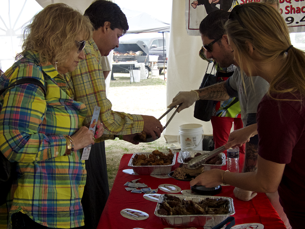 Scene from last March at the Joe Lamb Jr., & Associates BBQ  & Wing Showdown.