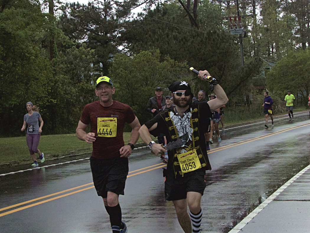 Part of the fun of the Flying Pirate Half Marathon are the costumes.