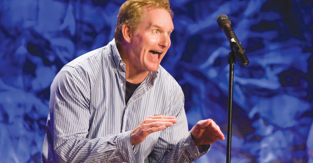 Greg Hahn brings his comedic mayhem to the Lost Colony stage April 7.