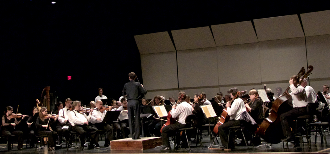 Virginia Symphony in performance at First Flight High School.