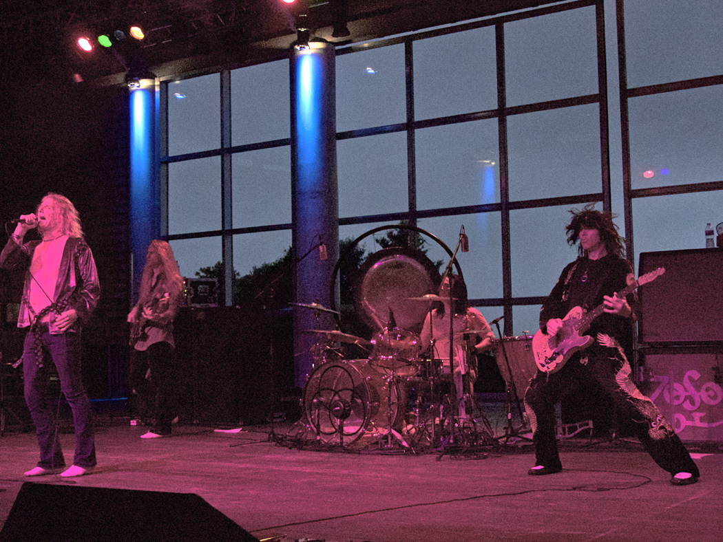 ZoSo, Led Zeppelin tribute band in performance at Roanoke Island Festival Park.