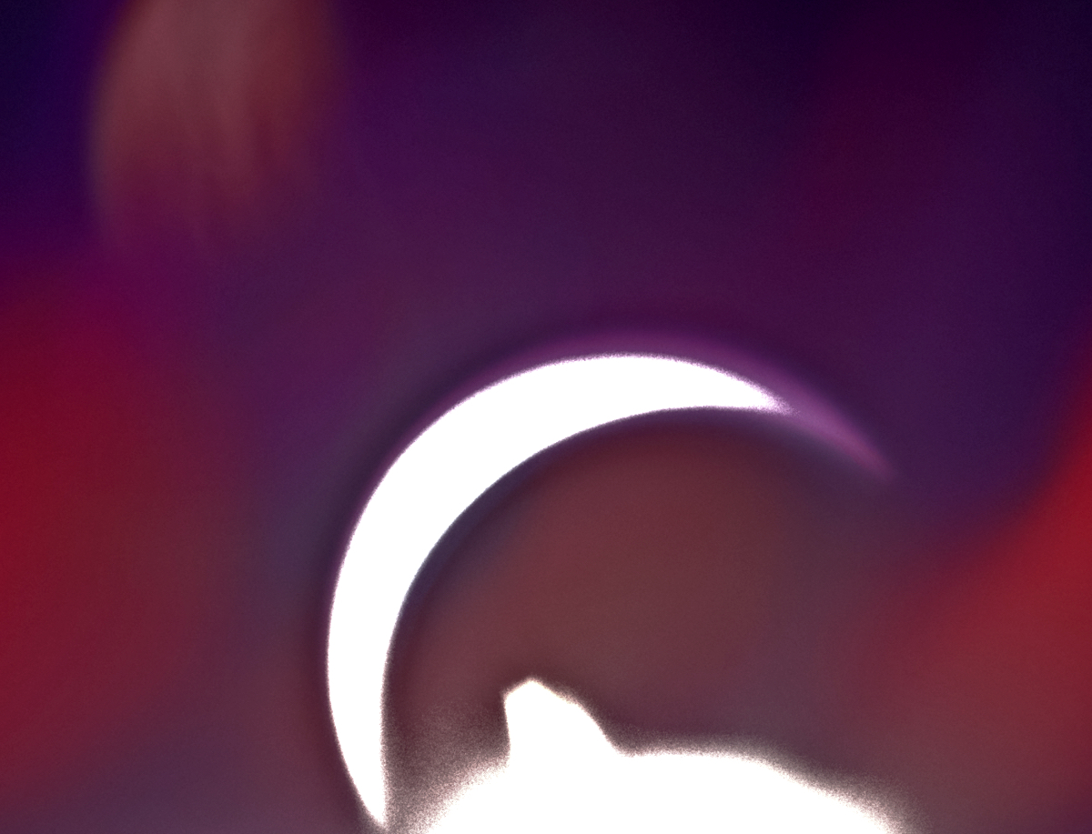 Solar eclipse. The moon passing over the sun. Image colors from multiple camera filters.