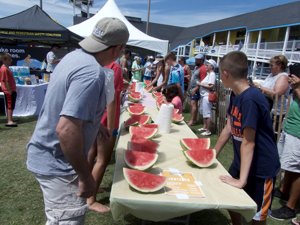 Getting ready for the Watermelon Eating contest.