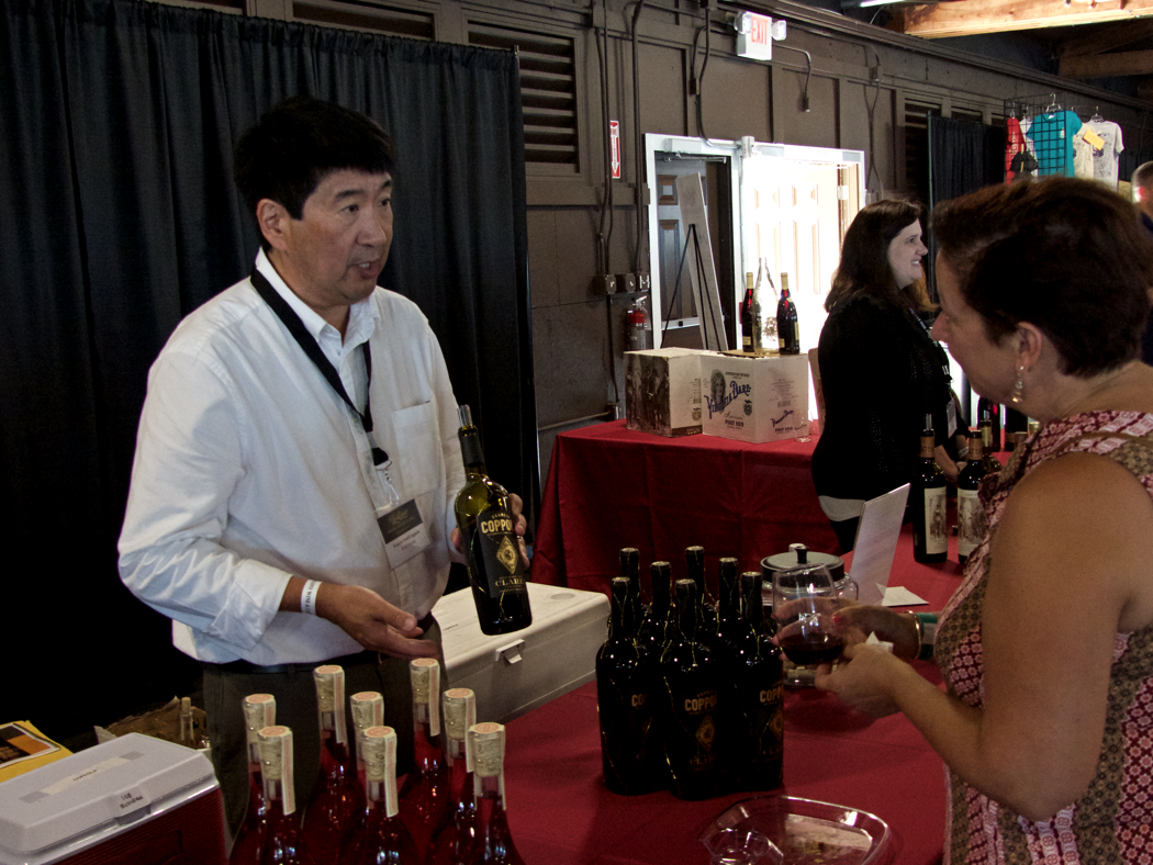 Tasting wines at the Lost Colony Wine and Culinary Festival.