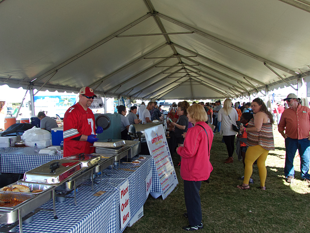 Sampling great seafood at last year's Outer Banks Seafood Festival.