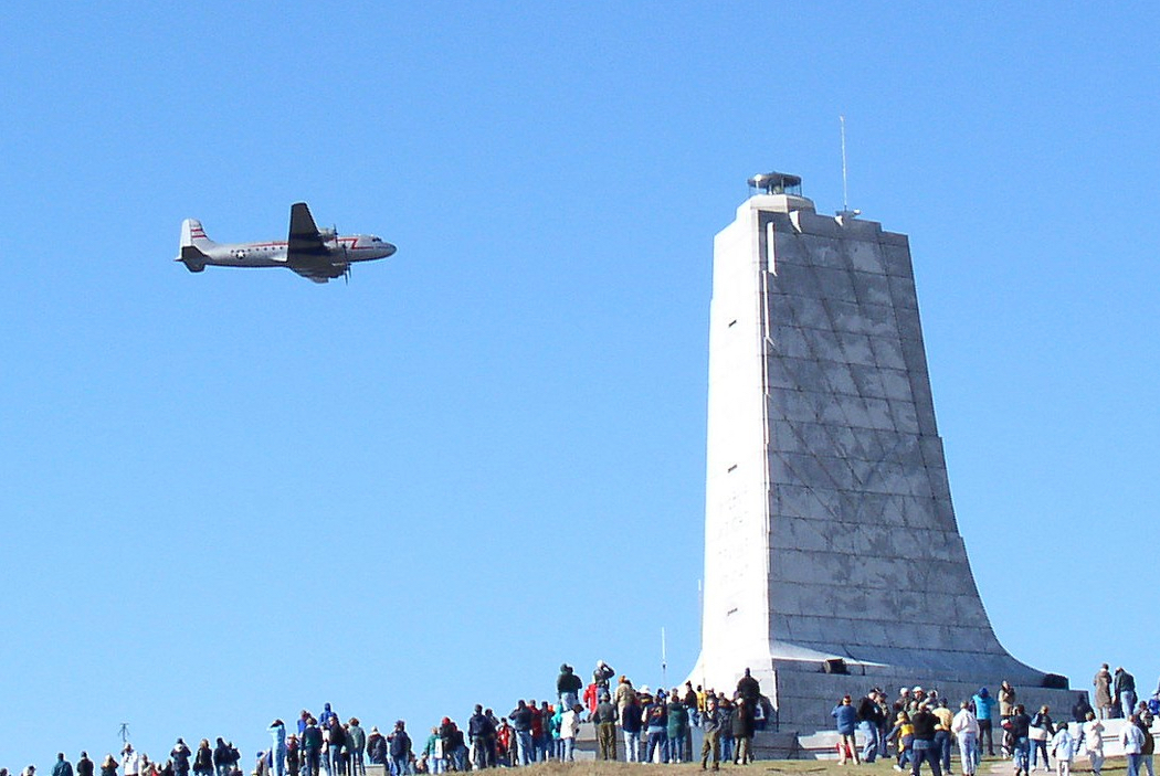 The Candy Bomber does a Wright Brothers Flyover.