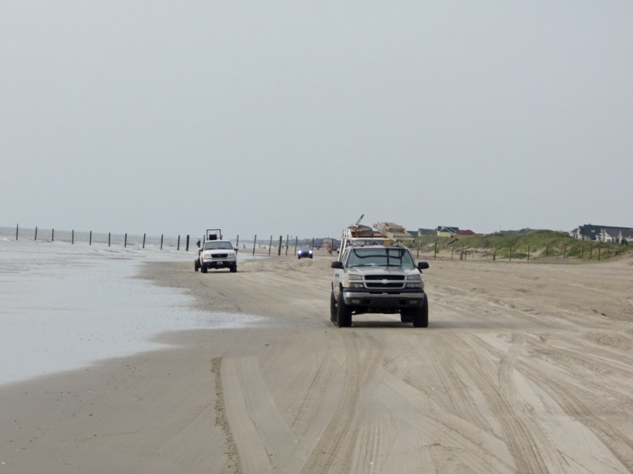 Carova Beach is the main thoroughfare north of Corolla.
