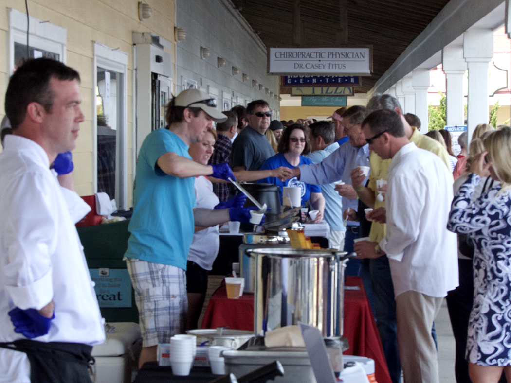 At last year's Chowder Cook-off.