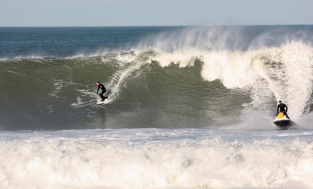 Surfing the break at Kitty Hawk, March 7. Photo, Brent Nultemeier.
