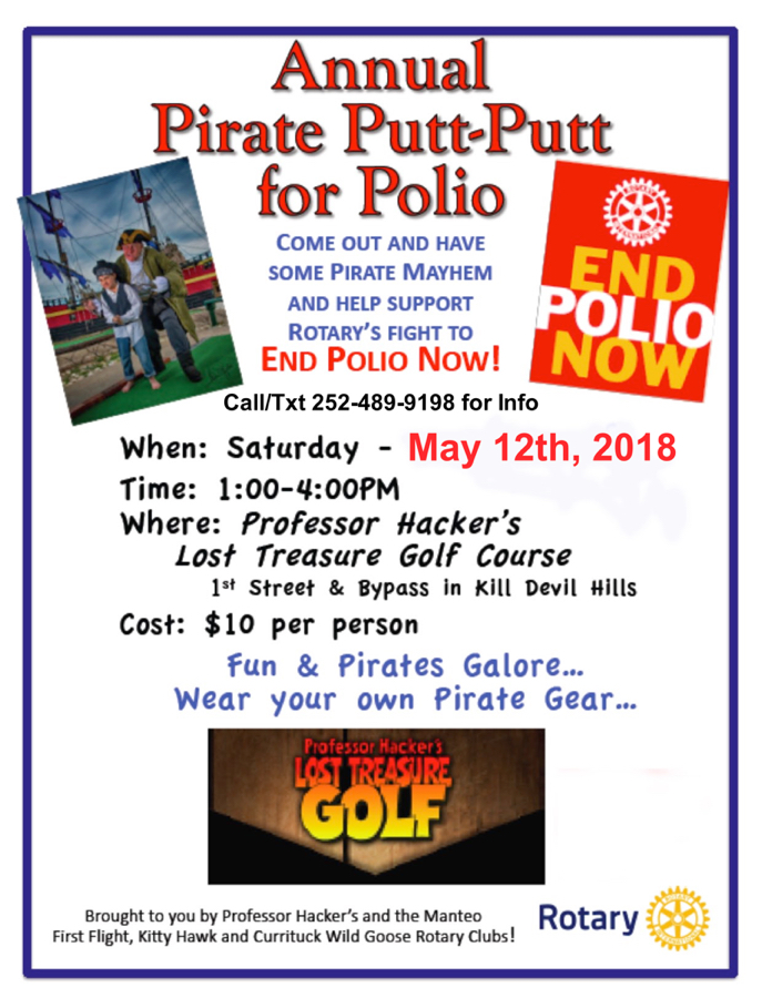Pirate Putt-Putt for Polio Poster.