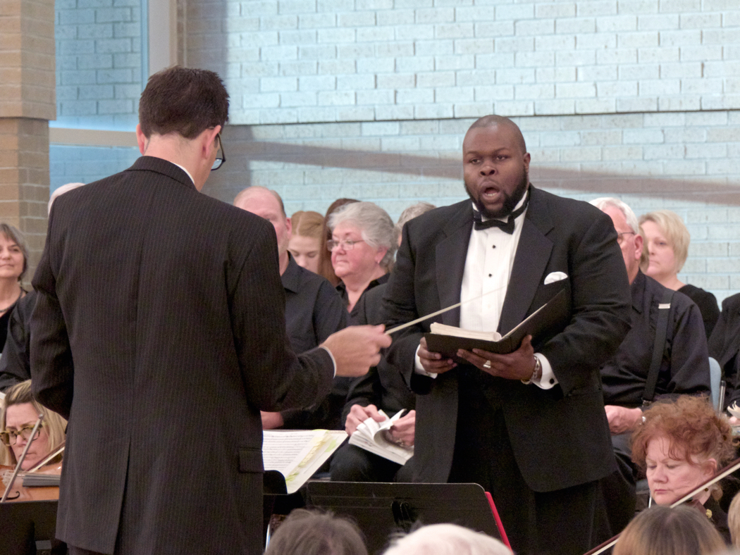 Tshombe Selby in concert last December at Holy Redeemer Church performing Handel's Messiah.