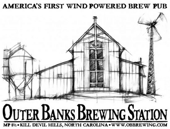 The iconic Outer Banks Brewing Station.