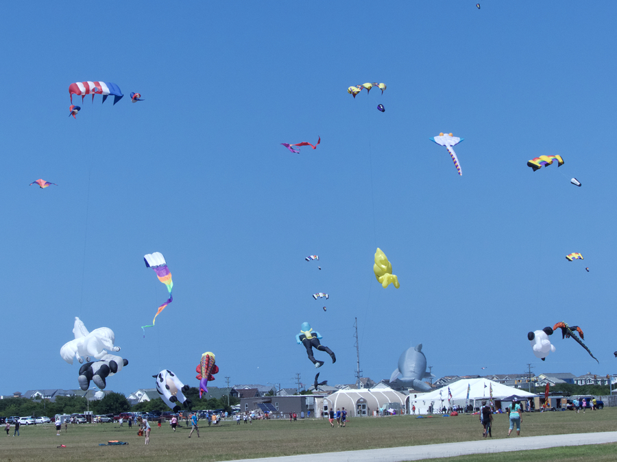A record number of kites filled the skies in ideal conditions on Saturday at the 40th Annual Wright Kite Festival.