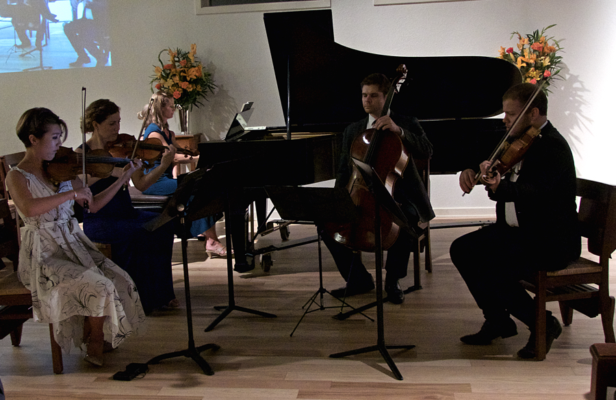 The Surf and Sound Quintet in performance at All Saints Episcopal Church in Southern Shores.