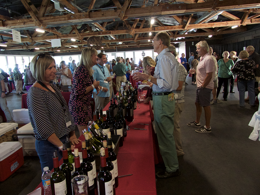 Tasting wine at last year's Lost Colony Wine & Culinary Festival.