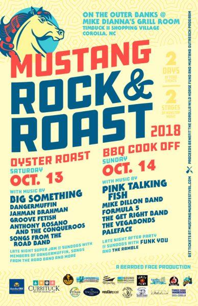 Mustang Rock & Roast poster