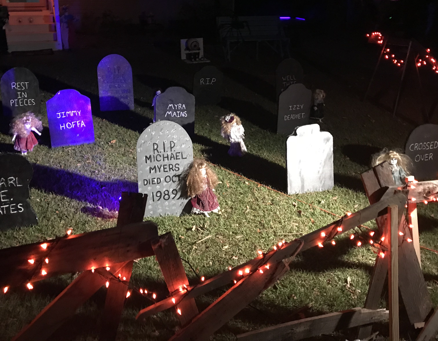 Halloween graveyard in Kill Devil Hills.