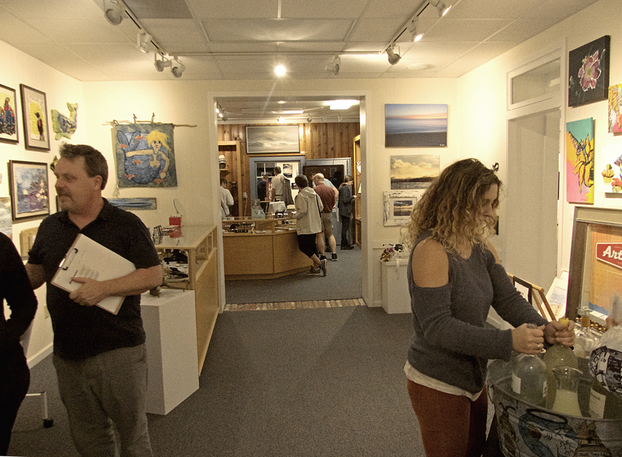 Looking almost brand new, the DCAC Gallery in downtown Manteo reopened just three weeks after flood waters got inside the building.