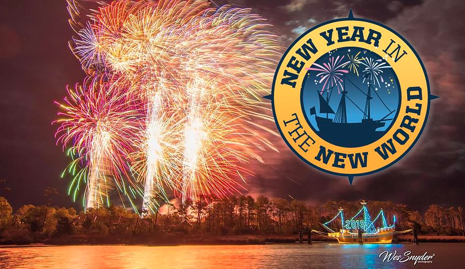 Manteo promises the largest New Year's Eve fireworks in the state. If the weather holds, it may be.
