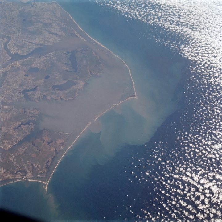 The Outer Banks as seen from Apollo 9 120 miles above the earth.