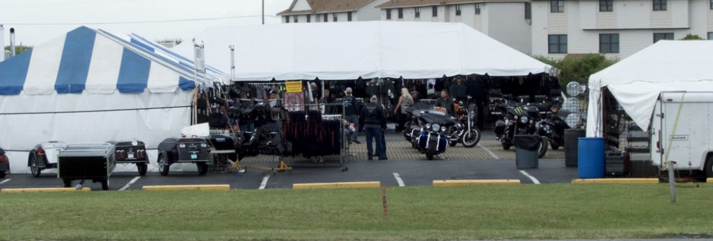 Outer Banks Bike Week takes shape at Longboards in Kitty Hawk.