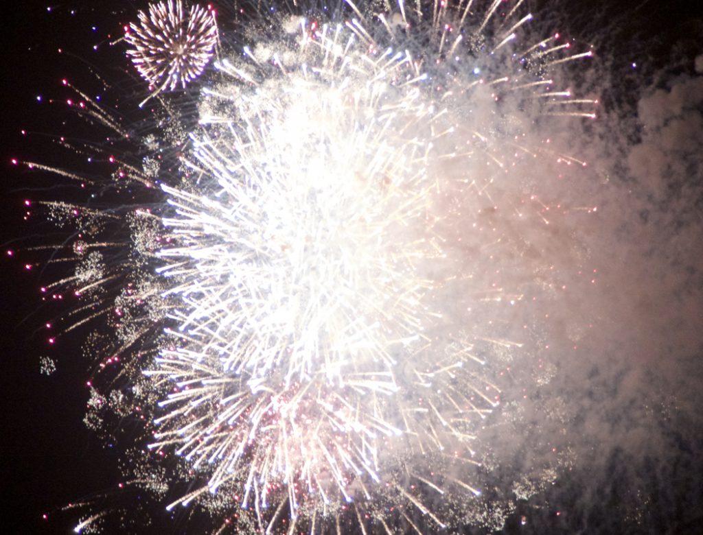 Fireworks over Avalon Pier, Kill Devil Hills.