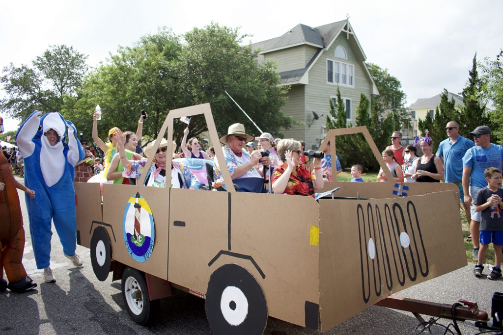 Our personal favorite float from the Town of Duck's 4th of July Annual Parade.