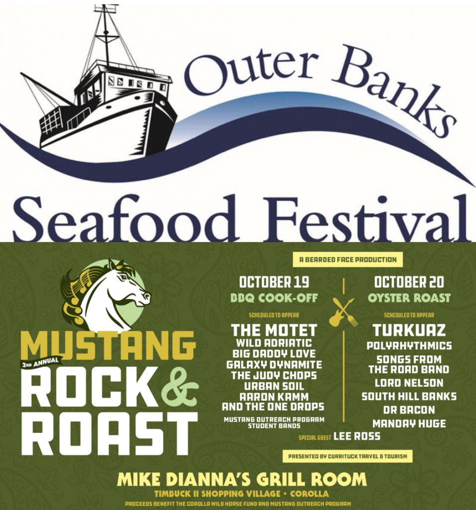 An Outer Banks event dilemma. Seafood Festival, Mustang Rock & Roast or both?