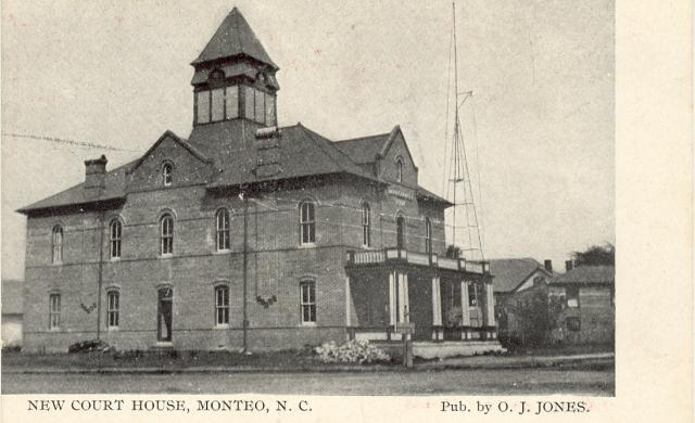 Dare County Courthouse as it appeared in 1904 when it was built.