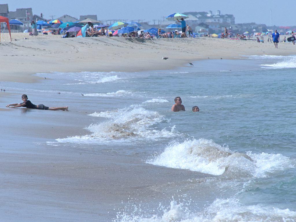 Kitty Hawk Beach in the summertime.