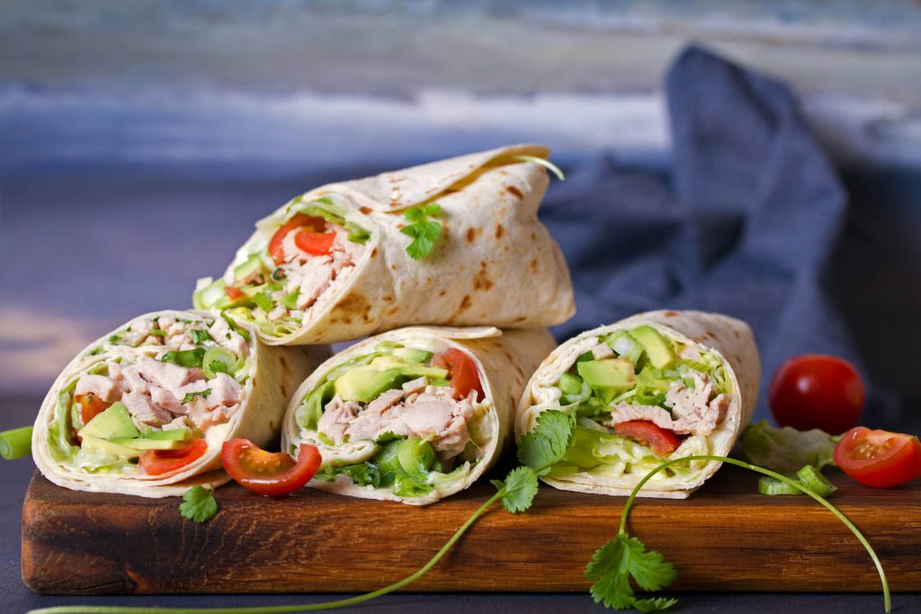 Quick wraps and rollups perfect for an Outer Banks beach picnic.