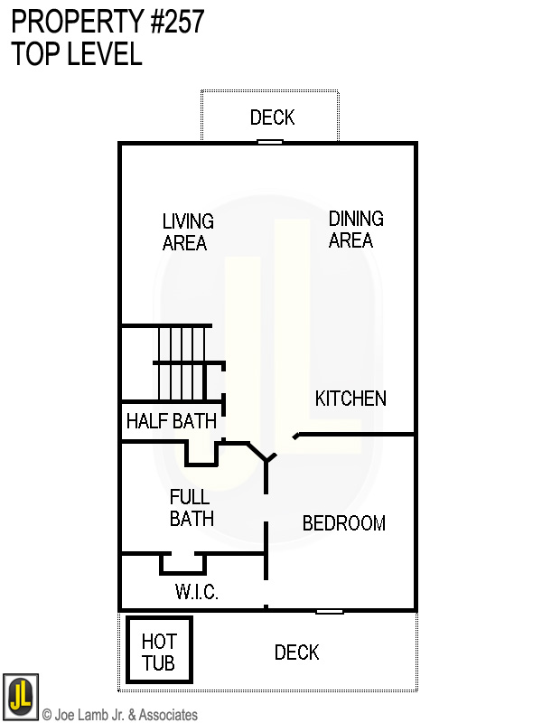 Floorplan: 257 Top Level