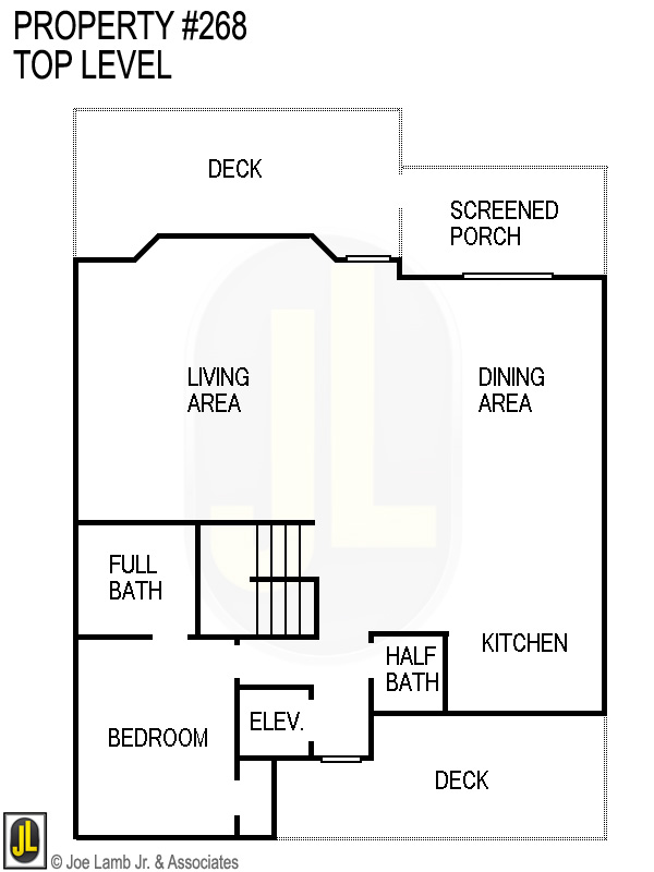 Floorplan: 268 Top Level