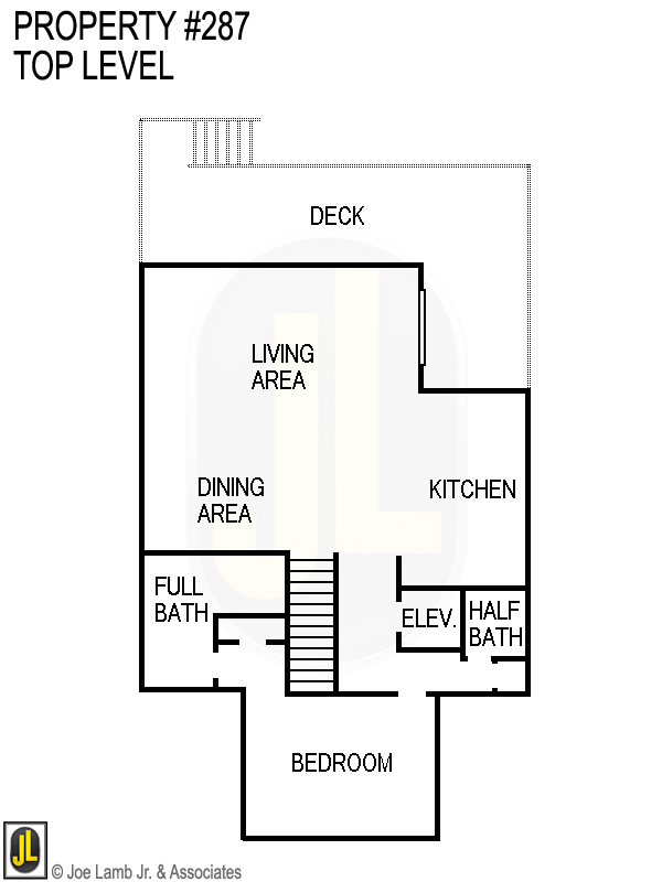Floorplan: 287 Top Level