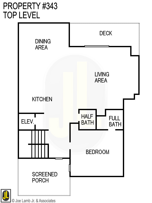 Floorplan: 343 Top Level