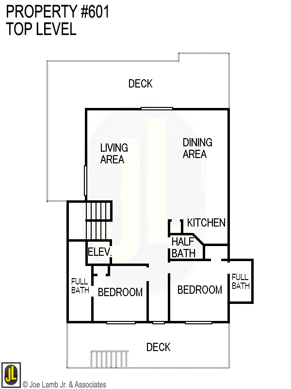 Floorplan: 601 Top Level