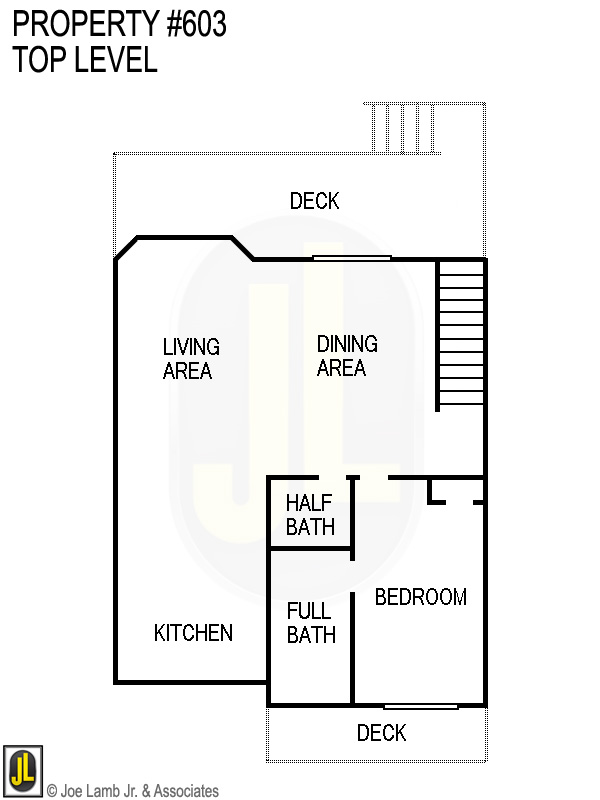 Floorplan: 603 Top Level