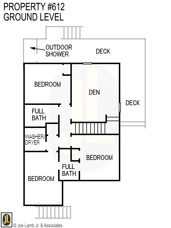 Floorplan: 612 Ground Level- Updated 2019