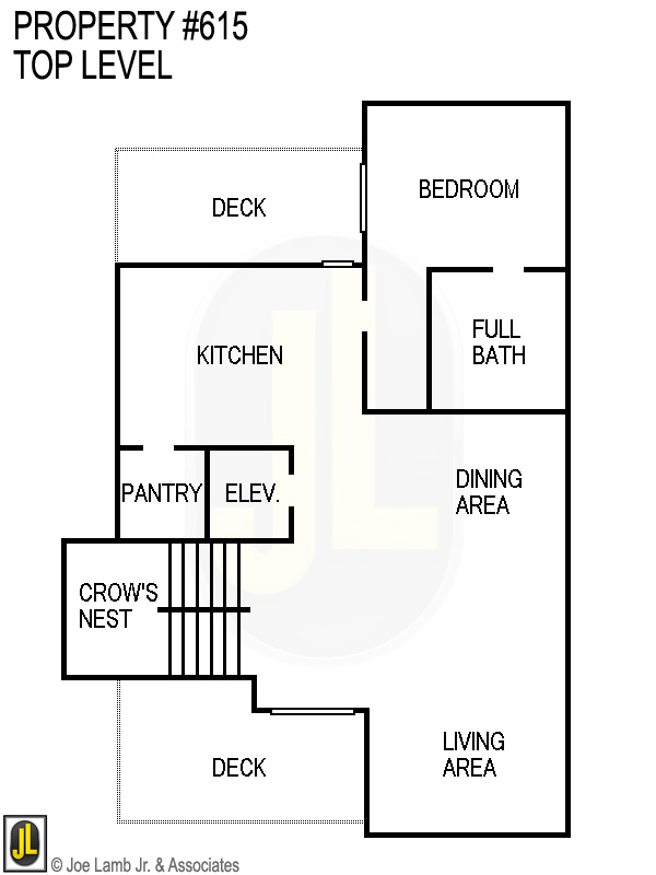 Floorplan: 615 Top Level