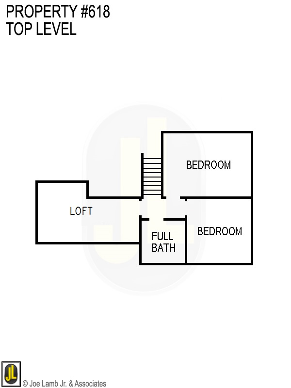 Floorplan: 618 Top Level Floor Plan Loft