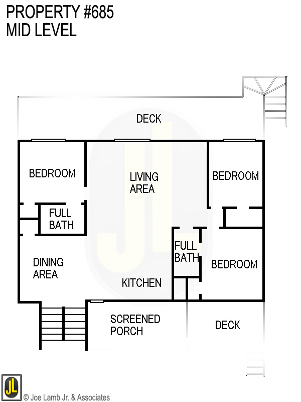 Floorplan: 685 Mid Level