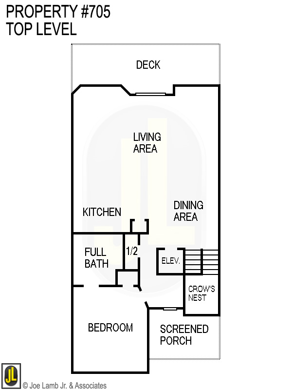 Floorplan: 705 Top Level
