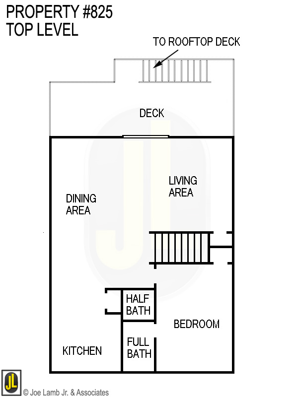 Floorplan: 825 Top Level
