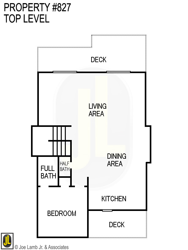 Floorplan: 827 Top Level
